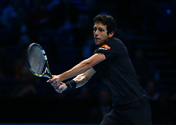 November 17, 2017 - London, England, United Kingdom - Marcelo Melo (BRA) in action..during Day six of the Nitto ATP World Tour  Finals played at The O2 Arena, London on November 17 2017  (Credit Image: © Kieran Galvin/NurPhoto via ZUMA Press)