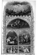 Nativity Scene for Christmas from Godey's Lady's Book and Magazine, December 1864, Volume LXIX, (Volume 69), Philadelphia, Louis A. Godey, Sarah Josepha Hale,