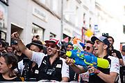 June 10-16, 2019: 24 hours of Le Mans. 8 Sébastien Buemi, Toyota Gazoo Racing, TOYOTA TS050 - HYBRID, 7 Jose Maria Lopez, Toyota Gazoo Racing, TOYOTA TS050 - HYBRID , 8 Fernando Alonso, Toyota Gazoo Racing, TOYOTA TS050 - HYBRID , driver's parade