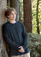 Jack Cennamo senior pictures at Ahern State Park, Laconia, NH.  ©2021 Karen Bobotas Photographer
