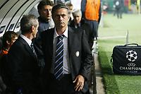 """L'Allenatore dell'Inter Jose Mourinho<br /> Inter Trainer Jose Mourinho<br /> Milano 22/10/2008 Stadio """"Giuseppe Meazza"""" <br /> Champions League 2008/2009<br /> Inter-Anorthosis (1-0)<br /> Foto Luca Pagliaricci Insidefoto"""
