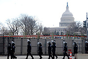 WASHINGTON, D.C.JANUARY 20 2021: Visuals of support and protests as U.S. President Elect Joe Biden and Vice President-Elect Kamala Harris becoming the 46th President of the United States of America and Kamala Harris becoming the first Woman and first African-American, the first South Asian-American as the 49th Vice-President of the United States held in the streets of Washington, D.C on January 20, 2021.   Terrence Jennings/terrencejennings.com