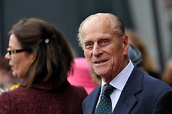 © Licensed to London News Pictures. 22/11/2012. Bristol, UK.  Queen Elizabeth ll and the Duke of Edinburgh visit MShed museum in Bristol dockside.  22 November 2012..Photo credit : Simon Chapman/LNP