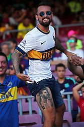 August 15, 2018 - Barcelona, Spain - Leo Messi supporter during the match between FC Barcelona and C.A. Boca Juniors, corresponding to the Joan Gamper trophy, played at the Camp Nou, on 15th August, 2018, in Barcelona, Spain. (Credit Image: © Joan Valls/NurPhoto via ZUMA Press)
