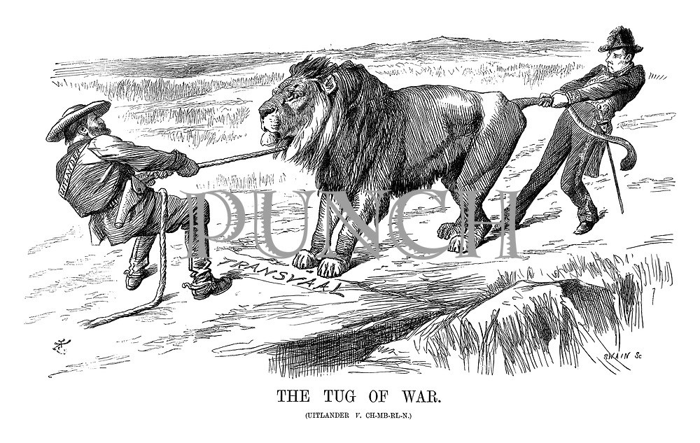 The Tug of War. (Uitlander v. Ch-mb-rl-n.)