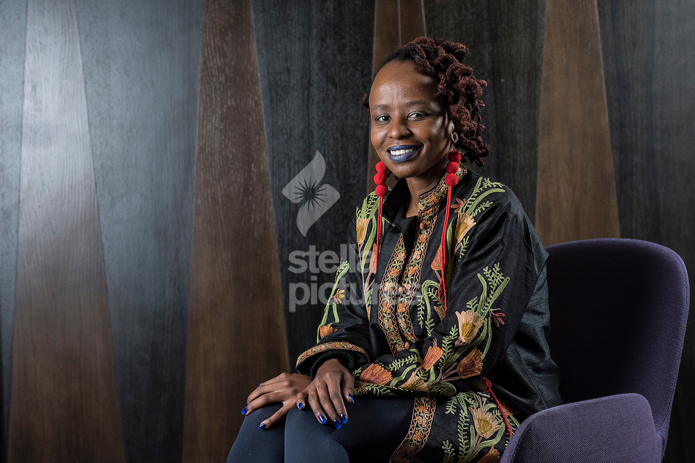 South African artist Donna Kukama pictured at  central London hotel.<br /> Kukama is a Johannesburg-based multimedia artist working in video, sound, and performance.<br /> Picture by Daniel Hambury/Stella Pictures Ltd 07813022858<br /> 27/09/2017