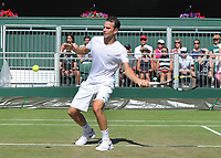 Tennis - 2017 Wimbledon Championships - Week One, Saturday [Day Six]<br /> <br /> Mens singles - Third round match<br /> Gael Monfils (FRA) v Adrian Mannarino (FRA) <br /> <br /> Adrian Mannarino on  Court 12<br /> <br /> COLORSPORT/ANDREW COWIE