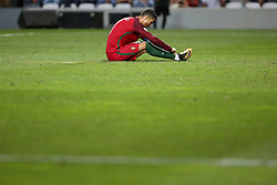 August 31, 2017 - Porto, Portugal - Portugal's forward Cristiano Ronaldo reacts during the 2018 FIFA World Cup qualifying football match between Portugal and Faroe Islands at the Bessa XXI stadium in Porto, Portugal on August 31, 2017. (Credit Image: © Pedro Fiuza/NurPhoto via ZUMA Press)