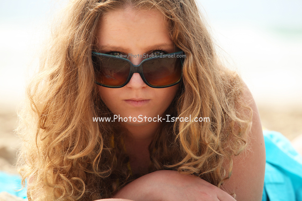 Portrait of a 16 year old teen girl Model released