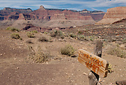 A sign marks the Tonto Trail in the Grand Canyon. Missoula Photographer