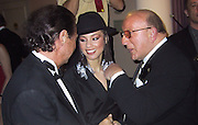 Clave Davis and new singer Alicia Keys.Clive Davis' pre-Grammy Gala (J Records and BMG).Beverly Hills Hotel .Los Angeles, CA.February 20. 2001.Photo by CelebrityVibe.com..