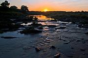 Talek river, Maasai Mara, Kenya, during sunrise.