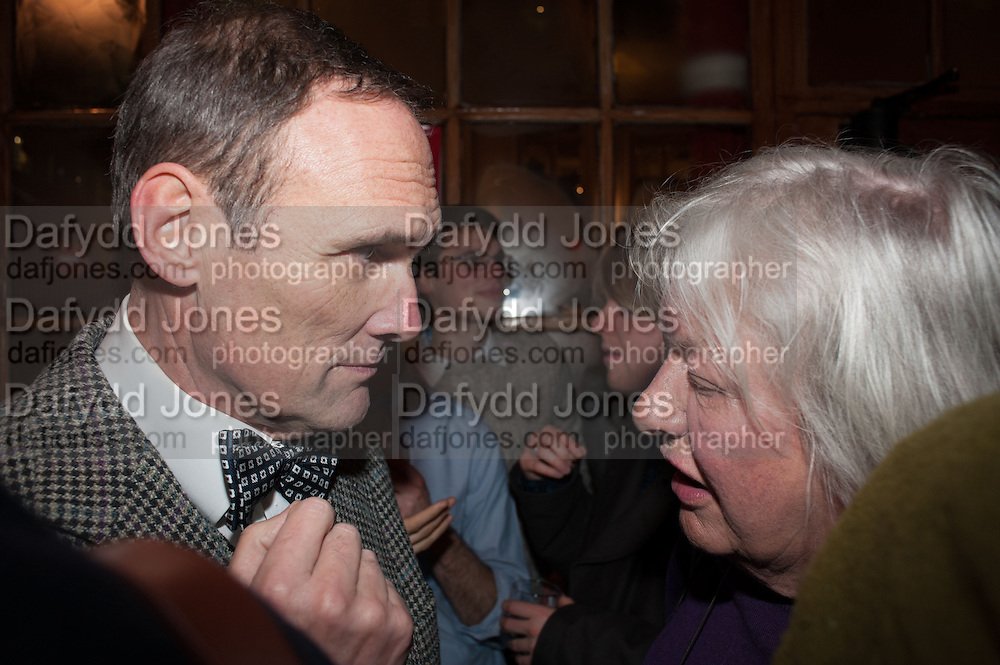 A.A.GILL; LYNN BARBER, The Omnivore hosts the third Hatchet  Job of the Year Award. Sponsored by the Fish Society.  The Coach and Horses. Greek st. Soho. London. 11 February 2014.