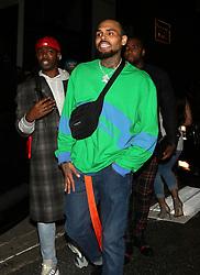 Chris Brown is seen in Los Angeles