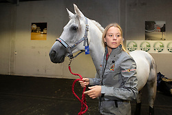 Schuiten Louna, BEL, Sabah du Courtisot<br /> Departure horses from Liege Airport<br /> FEI World Equestrian Games™ Tryon 2018<br /> © Hippo Foto - Dirk Caremans<br /> 02/09/2018