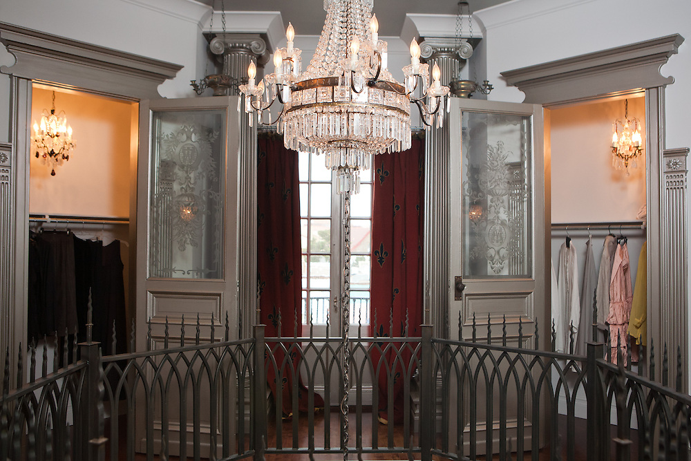 Gertrude Zachary's house includes two closets for her clothing, one for her dark clothes and one for her lighter colors, each with it's own chandelier...CREDIT: Steven St. John for The Wall Street Journal
