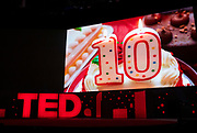 TED Fellows video at TED2019: Bigger Than Us. April 15 - 19, 2019, Vancouver, BC, Canada. Photo: Bret Hartman / TED
