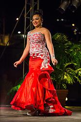 Evening Wear Segment.  Contestant #4, Yaritza Tirado.  St. John Festival Queen: 2015.  Winston W. Wells Ball Field.  St. John, Virgin Islands.  21 June 2015.  © Aisha-Zakiya Boyd