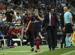 May 9, 2019 - Valencia, Valencia, Spain - Ozil of Arsenal in action during UEFA Europa League football match, between Valencia and Arsenal, May 09th, in Mestalla stadium in Valencia, Spain. (Credit Image: © AFP7 via ZUMA Wire)