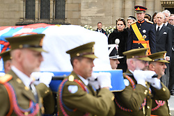 Henri, Grand Duke of Luxembourg and Maria Teresa, Grand Duchess of Luxembourg at the funeral of Grand Duke Jean of Luxembourg at Cathedral Notre-Dame of Luxembourg in Luxembourg City, Luxembourg on May 4, 2019. Grand Duke Jean of Luxembourg has died at 98, April 23, 2019. Photo by David Niviere/ABACAPRESS.COM