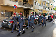 Red Cross volunteers make their way to affected affected from the Beirut Port explosion, on Friday, 21 Aug 2020. Beirut, Lebanon. (VXP Pictures/ Matt Kynaston)