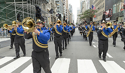 October 8, 2018 - New York, New York, United States - Atmosphere during Columbus Day parade along Fifth Avenue in Manhattan (Credit Image: © Photographer Lev Radin/Pacific Press via ZUMA Wire)