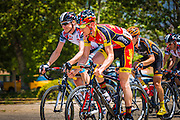 Professional cyclists at the Amgen Tour of California, Santa Paula, California USA