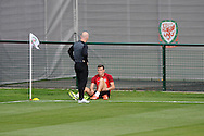 Gareth Bale during the Wales football team training at the FAW base, Dragon Park in Newport, South Wales on Monday 12th August 2013. pic by Andrew Orchard,  Andrew Orchard sports photography,
