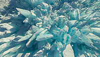 Abstract aerial view of Baikal Lake, Russia