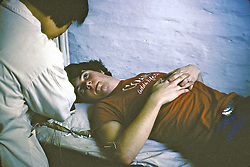 Bruce Newcomber Getting Acupuncture
