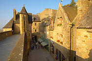 Mont Saint-Michel - Town Wall and main Street - Brittany - France