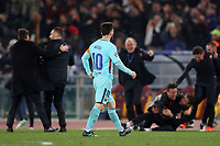 La delusione di Leo Messi Barcellona<br />Dejection Leo Messi Barcellona<br />Roma 10-04-2018 Stadio Olimpico<br />Champions League, Quarti di Finale. <br />AS Roma - Barcellona / AS Roma - Barcelona<br />Foto Luca Pagliaricci / Insidefoto