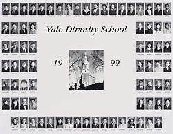 1999 Yale Divinity School Senior Portrait Class Group Photograph