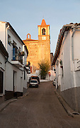 Historic church in village of Castano de Robledo, Sierra de Aracena, Huelva province, Spain