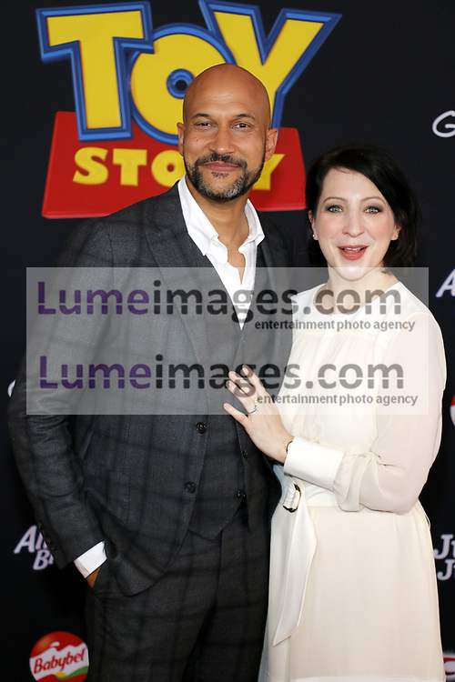 Keegan-Michael Key and Elisa Key at the World premiere of 'Toy Story 4' held at the El Capitan Theater in Hollywood, USA on June 11, 2019.