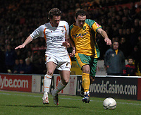 Photo: Ashley Pickering.<br /> Norwich City v Blackpool. The FA Cup. 13/02/2007.<br /> Lee Croft of Norwich (R) and Keigan Parker of Blackpool