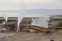 Geothermal Plant at edge of Salton Sea, Imperail Valley, California