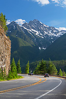 North Cascades Highway Washington. Colonial Peak is in the distance