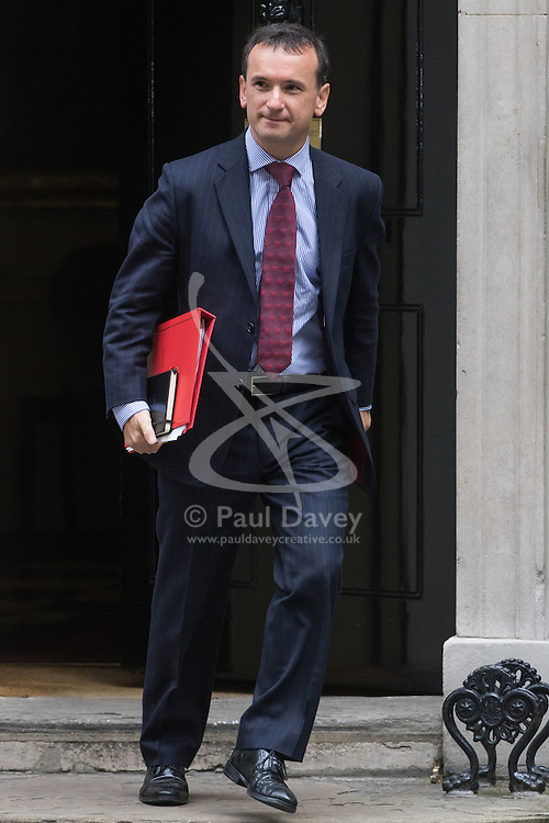 Downing Street, London, October 11th 2016. Government ministers leave the first post-conference cabinet meeting. PICTURED: Welsh Secretary Alun Cairns