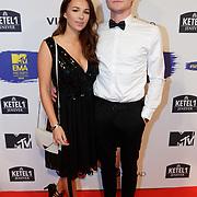 NLD/Amsterdam/20181029 - MTV pre party 2018, Nina Barink en Kelvin Boerma