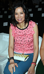 Wendi Murdoch  in the front row at the Diane Von Furstenberg show  at  New York Fashion Week  Sunday, 9th September 2012. Photo by: Stephen Lock / i-Images