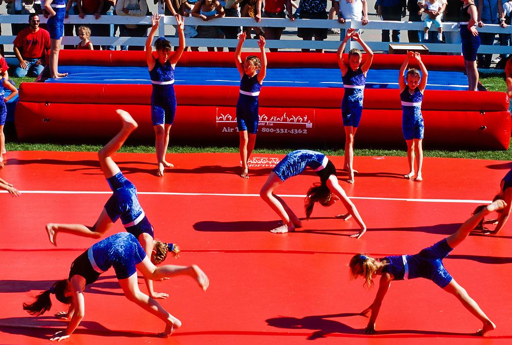 Alaska. Matanuska Valley. State Fair. The gymnastics of young Alaskans.