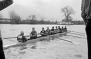 Chiswick. London.<br /> Eights starting from Mortlake<br /> National Squard [Lightweights]<br /> 1987 Head of the River Race over the reversed Championship Course Mortlake to Putney on the River Thames. Saturday 28.03.1987. <br /> <br /> [Mandatory Credit: Peter SPURRIER;Intersport images] 1987 Head of the River Race, London. UK