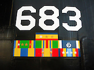 The sail of the decommissioned nuclear Submarine USS 683 Parche was preserved and placed in the Harborside Park in downtown Bremerton, Washington, USA. Parche, a Sturgeon class nuclear submarine was the most decorated ship in U.S. Navy history, receiving a total of nine Presidential Unit Citations, ten Navy Unit Citations, and thirteen Navy Expeditionary Medal awards during her thirty years of service.