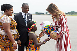 October 2, 2018 - Accra, Ghana, West Africa - First Lady Melania Trump arrives in Ghana for her first international solo trip (Credit Image: ? Andrea Hanks/White House via ZUMA Wire/ZUMAPRESS.com)
