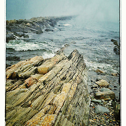 "The breakwater at Odiorne State Park in Rye, New Hampshire. iPhone photo - suitable for print reproduction up to 8"" x 12""."