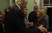 Sir George Martin, Lady Martin and Cynthia Lennon, Launch of 'John' by Cynthia Lennon at Six, Fitzroy Sq. London. 27 September 2005. ONE TIME USE ONLY - DO NOT ARCHIVE © Copyright Photograph by Dafydd Jones 66 Stockwell Park Rd. London SW9 0DA Tel 020 7733 0108 www.dafjones.com