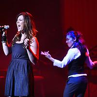 Nederland, Almere , 19 februari 2012..Line Up Songfestival concert Baku2Almere in Schouwburg Almere..Op de foto de zangeres Sense..Foto:Jean-Pierre Jans