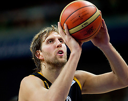 Dirk Nowitzki of Germany during basketball game between National basketball teams of Lithuania and Germany at FIBA Europe Eurobasket Lithuania 2011, on September 11, 2011, in Siemens Arena,  Vilnius, Lithuania. (Photo by Vid Ponikvar / Sportida)