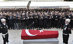 December 12, 2016 - Adana, Turkey - People joined the funeral of  police officers Adem Oguz and Mehmet Atici at Adana who died Saturday's Istanbul Besiktas Vodafone Arena bombing in Istanbul, Turkey, 12th Dec. 2016. (Credit Image: © Dha/Depo Photos via ZUMA Wire)